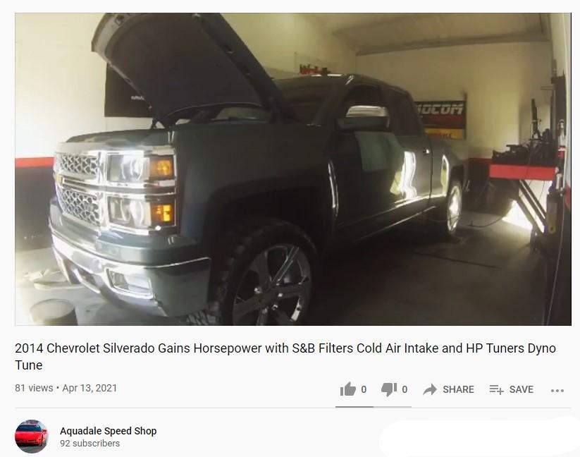 Chevrolet Silverado Gets Cold Air Intake & Tune